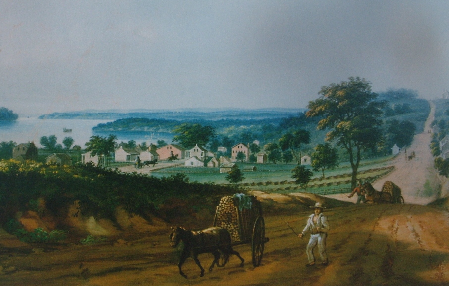 Wild, Vue de Cadondelet, sans titre, s.d., St. Louis Mercantile Library